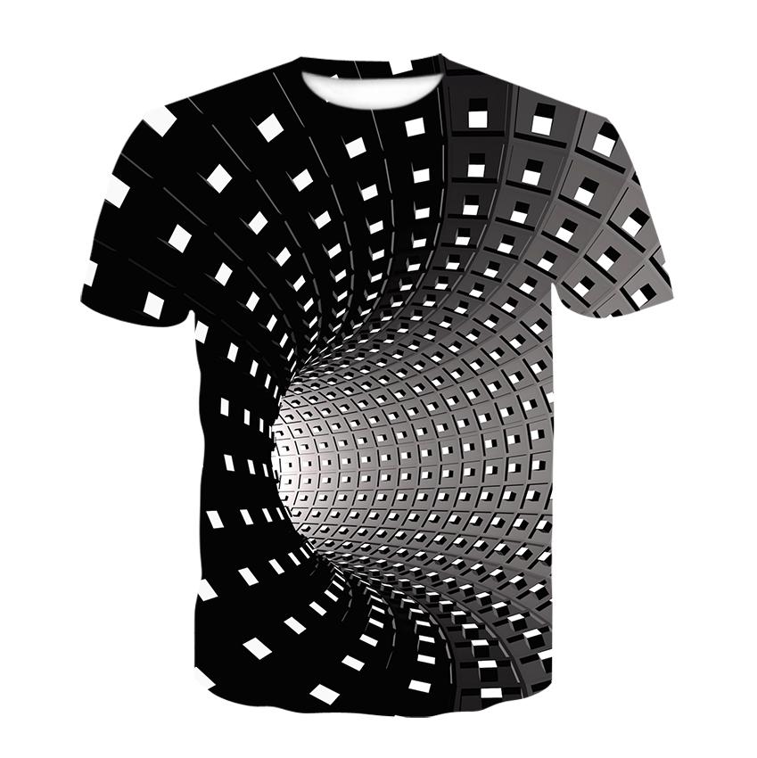 New Swirl Short Sleeve T shirt Summer Men's T shirt Men's Casual Top 3DT Shirts  Fashion O Neck Shirt Large Size Streetwear