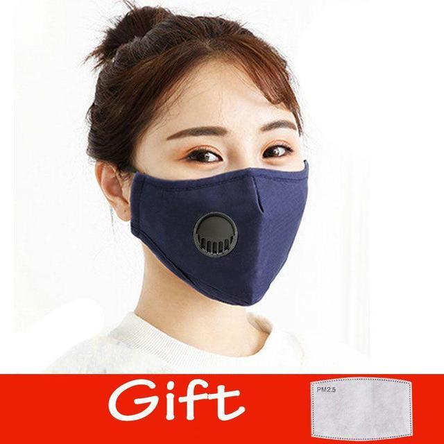 Cotton Face Mask PM2.5 Respirator Face Mask Activated Cover Mouth Anti Dust Haze Pollution Bacteria Proof Flu Masks with Filter 4