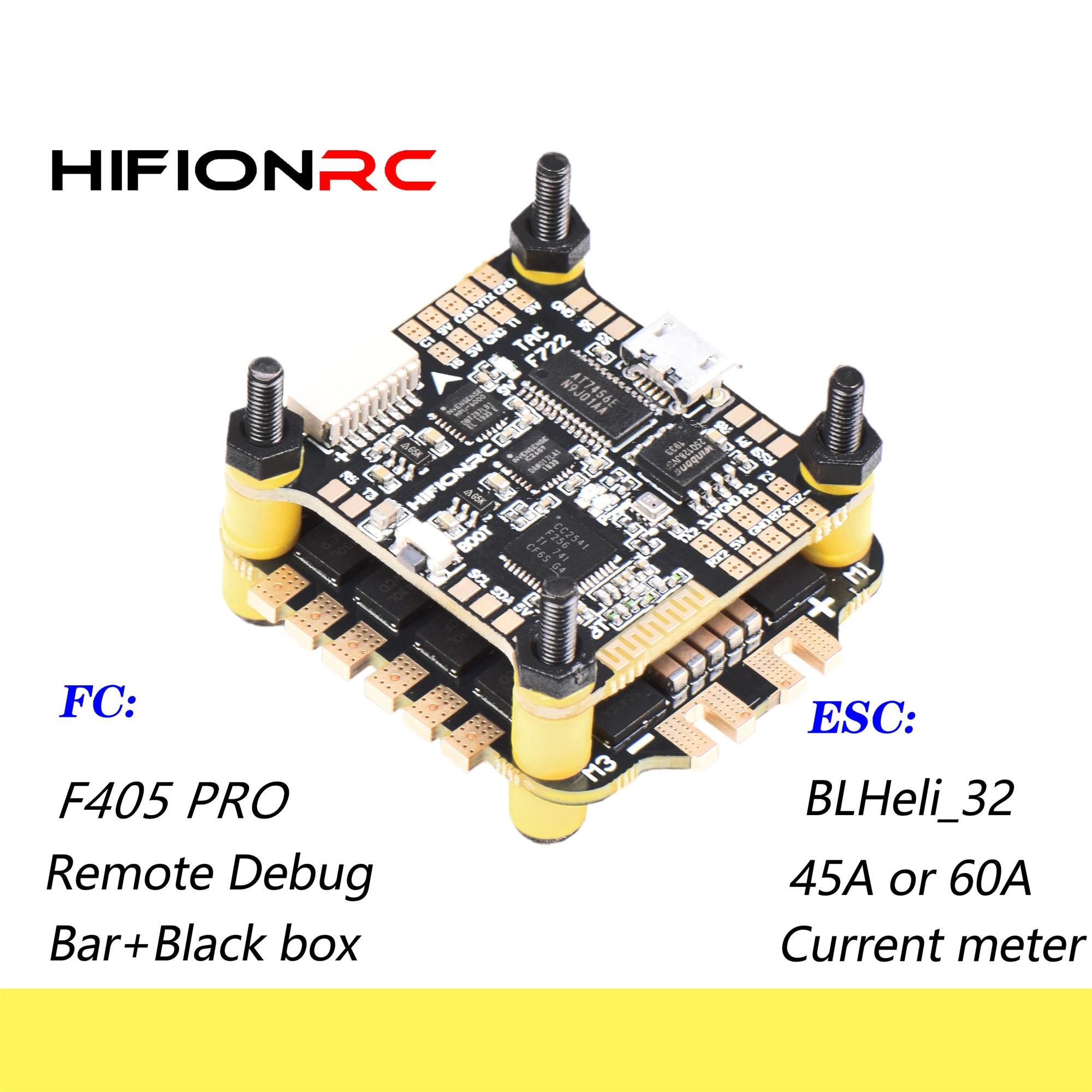 HIFIONRC Flight Controller F7/F405 Pro F722/F405 Blheli-32 32bit ESC 45A/60A Fly Tower Stack For FPV Racing RC Drone