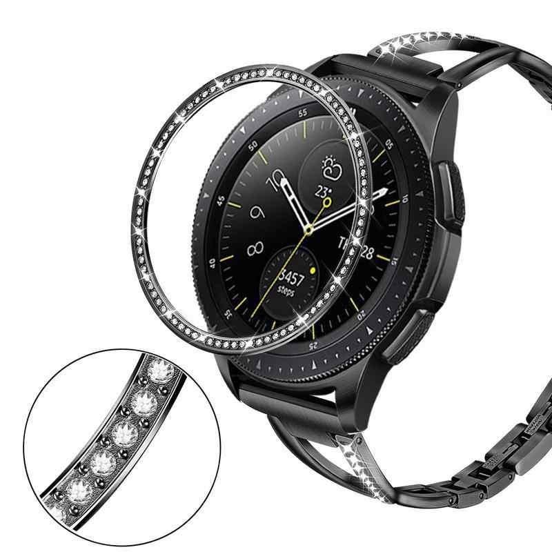 Galaxy akıllı saatin Samsung Galaxy izle 46MM 42MM çerçeve yüzük akıllı aksesuarları yapışkanlı kapak Anti scratch Metal