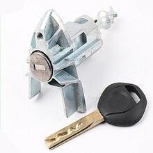 цена на Car Accessories New Styling Left Door Lock Set Key For B-MW X5 E53 2000-2006 Car Modified Car Door LOCK Cylinder With 1 Key