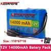 Original 18650 Li-Ion Batterij Draagbare Oplaadbare Batterij cc 12 V 12.6 V 14000Mah Batterij/12.6 V Batterij + 12.6V1A chargeur