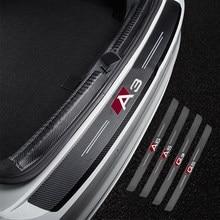 Pegatinas protectoras decorativas para maletero de coche, tela de fibra de carbono de alta calidad para Audi A3 A4 A5 A6 A7 A8 Q3 Q5 Q7 Q8, accesorios