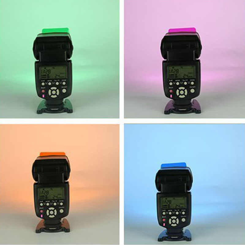 20 couleurs/pack Flash Speedlite couleur Gels filtres cartes pour Canon pour appareil photo Nikon Gels photographiques filtre Flash Flash
