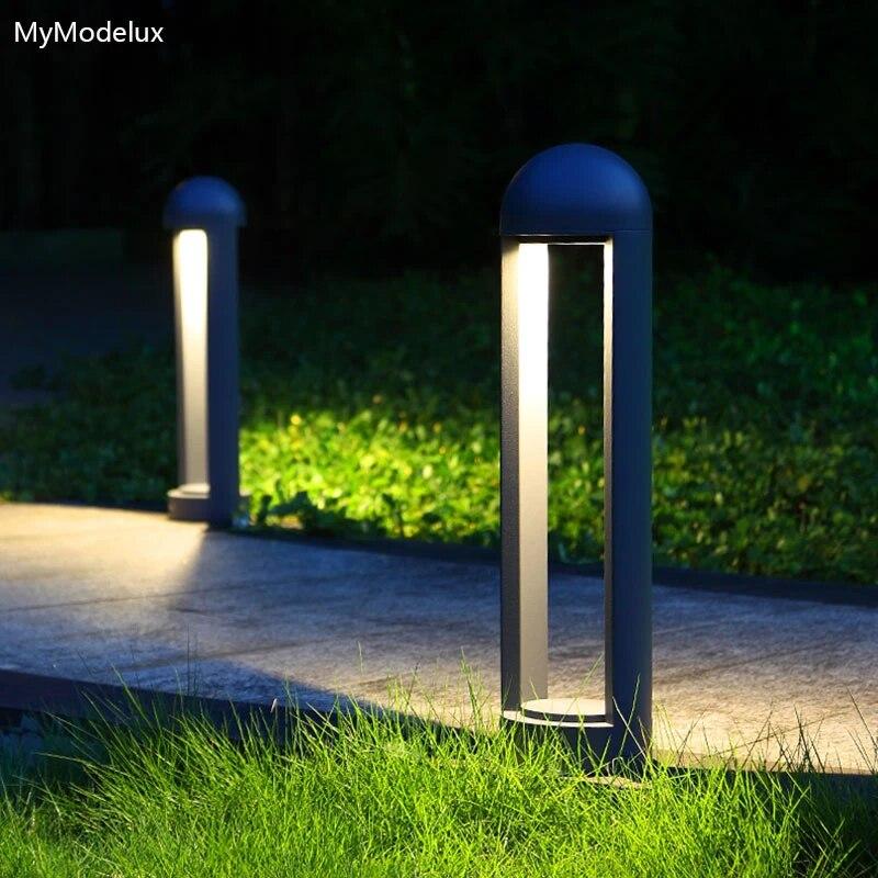 8w led landscape lights lawn lamps outdoor lighting waterproof aluminum garden decoration bollard light for yard street 220 240