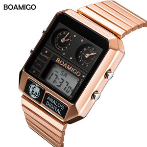 Image 2 - BOAMIGO top brand luxury men sports watches man fashion digital analog LED watches  square quartz wristwatches relogio masculino