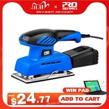 240w elétrica folha lixadeira 20 folhas de lixa 7 velocidade variável 230v polisher coleta de poeira ferramenta elétrica por prostormer