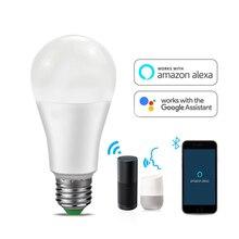 Wifi лампа домашний умный светильник Bluetooth светодиодный Светодиодный светильник белый теплый белый RGB RGBW RGBWW светильник s E27 лампы E27 85-265 в