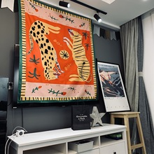 Tigers Tapestry Wall Hanging Witchcraft Hippie Beach Throw Rug Carpet Monster Tapestries Bohemian Home Art