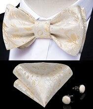 Модный Шелковый жаккардовый тканый мужской галстук бабочка с