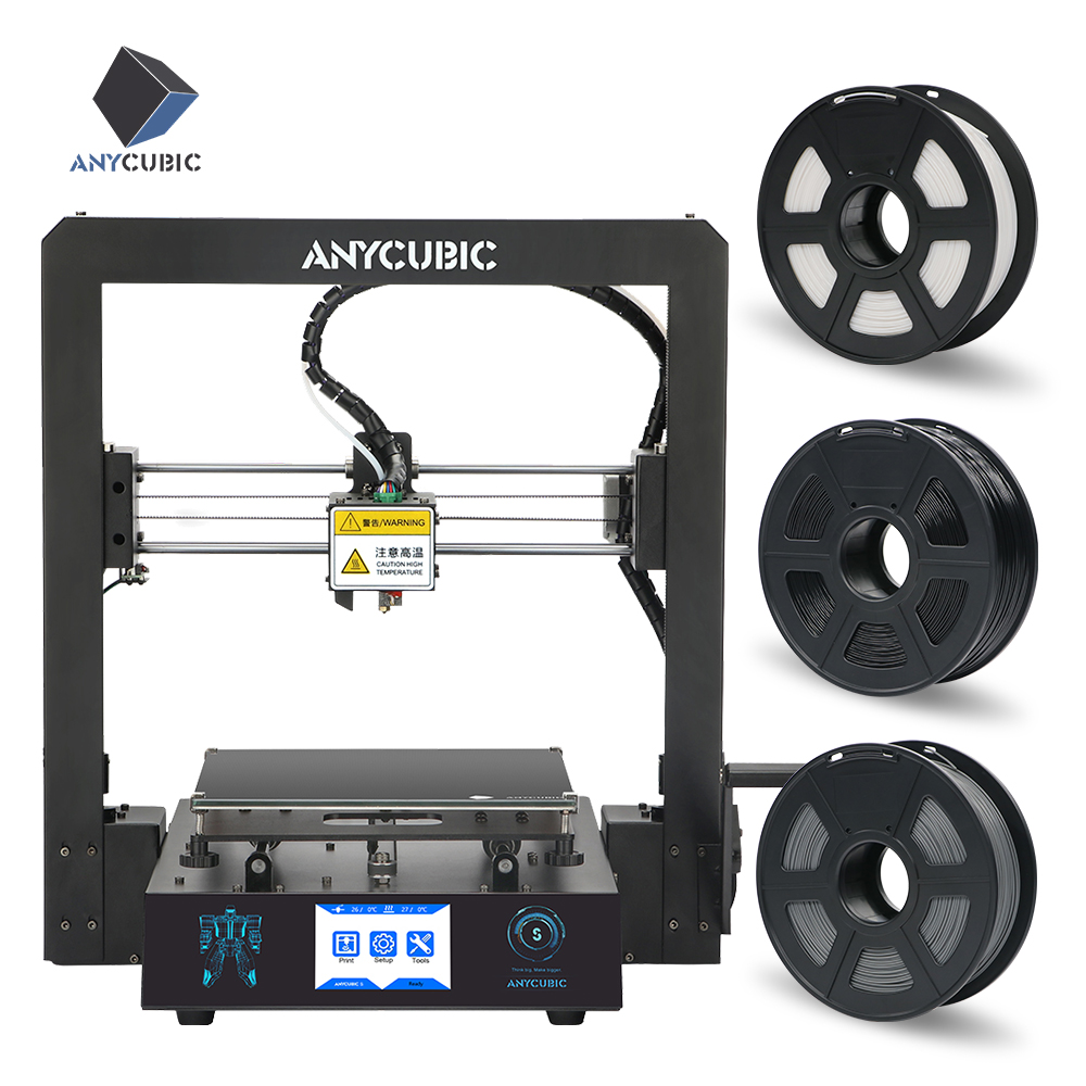 ANYCUBIC Mega S 3d Printer Upgraded Extrude Plus Size TFT Touch Screen Desktop FDM Cheap 3D