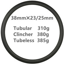 цена на Only 310g Super light UD matte 38mm Depth Carbon Road Bike rims 700C Carbon Rims Clincher Tubeless Tubular T800 bicycle wheel