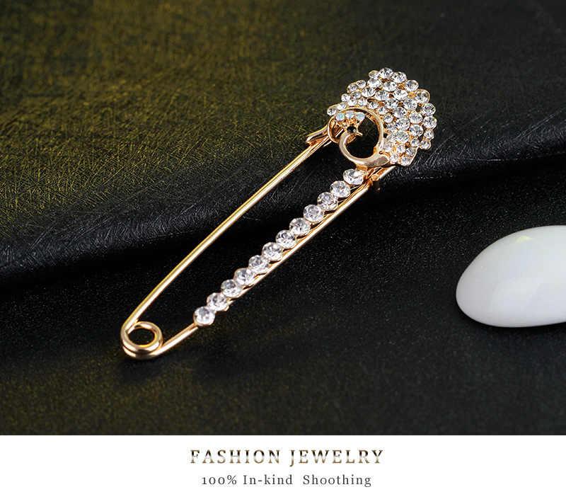 Baru Korea Fashion Elegan Catatan dengan Berlian Imitasi Bros Pria dan Wanita Jas Bros Sutra Syal Gesper Sweater Bros Mantel Pin