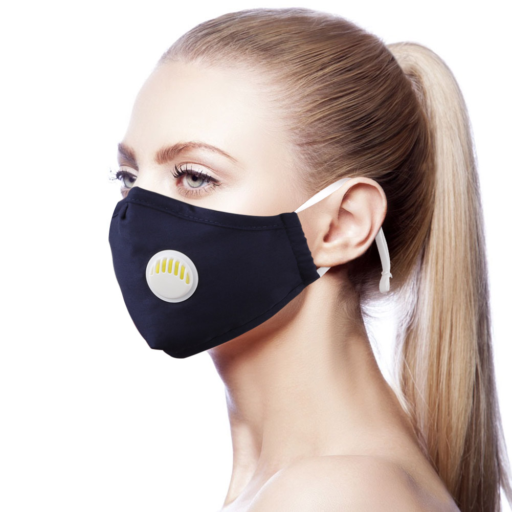 Adult Face Mask With Breathing Valve PM.5 Mouth Masks Washable Anti-Fog Dust Respirator Reusable Dustproof Face Masks
