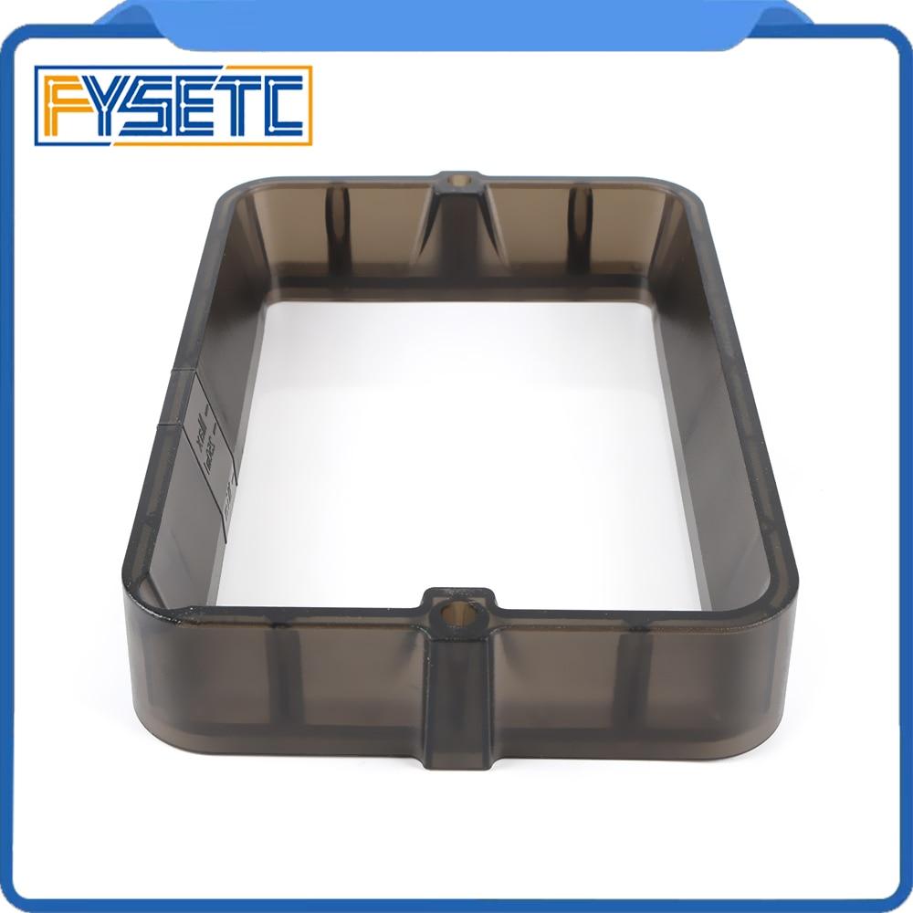 Material Rack Transparent Black 178*120mm Plastic Resin Vat With 5pcs FEP Film For Photon DLP SLA Wanhao D7 3D Printer
