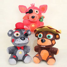 25cm FNAF Plush Five Nights At Freddy's Plush Toy Freddy Fazbears Pizzeria Simulator Ver El Chip Lefty Rockstar Foxy Doll gift(China)