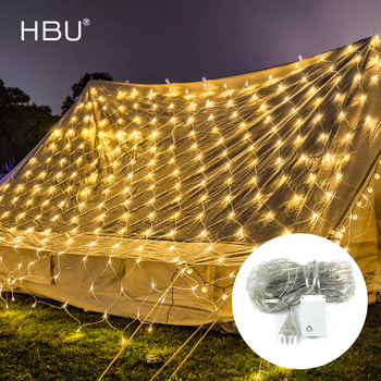 Led Christmas Net Lights Light Curtain Decoration Outdoor LED New Year Wedding Party Waterproof Lights String Holiday Light Lamp