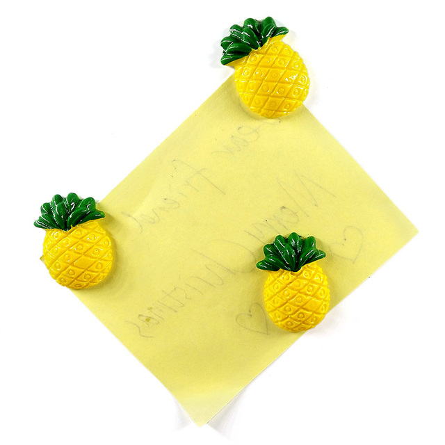 10pcs Pineapple Fridge magnet cartoon Model whiteboard Stickers Resin Refrigerator Magnets Home DIY Decoration Accessories 5