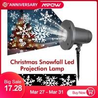 Xmas Snowflake Projector Laser Light Super Bright Christmas Led Lights Snowflake LED Projection Lamp Waterproof Landscape Decor|Stage Lighting Effect| |  -