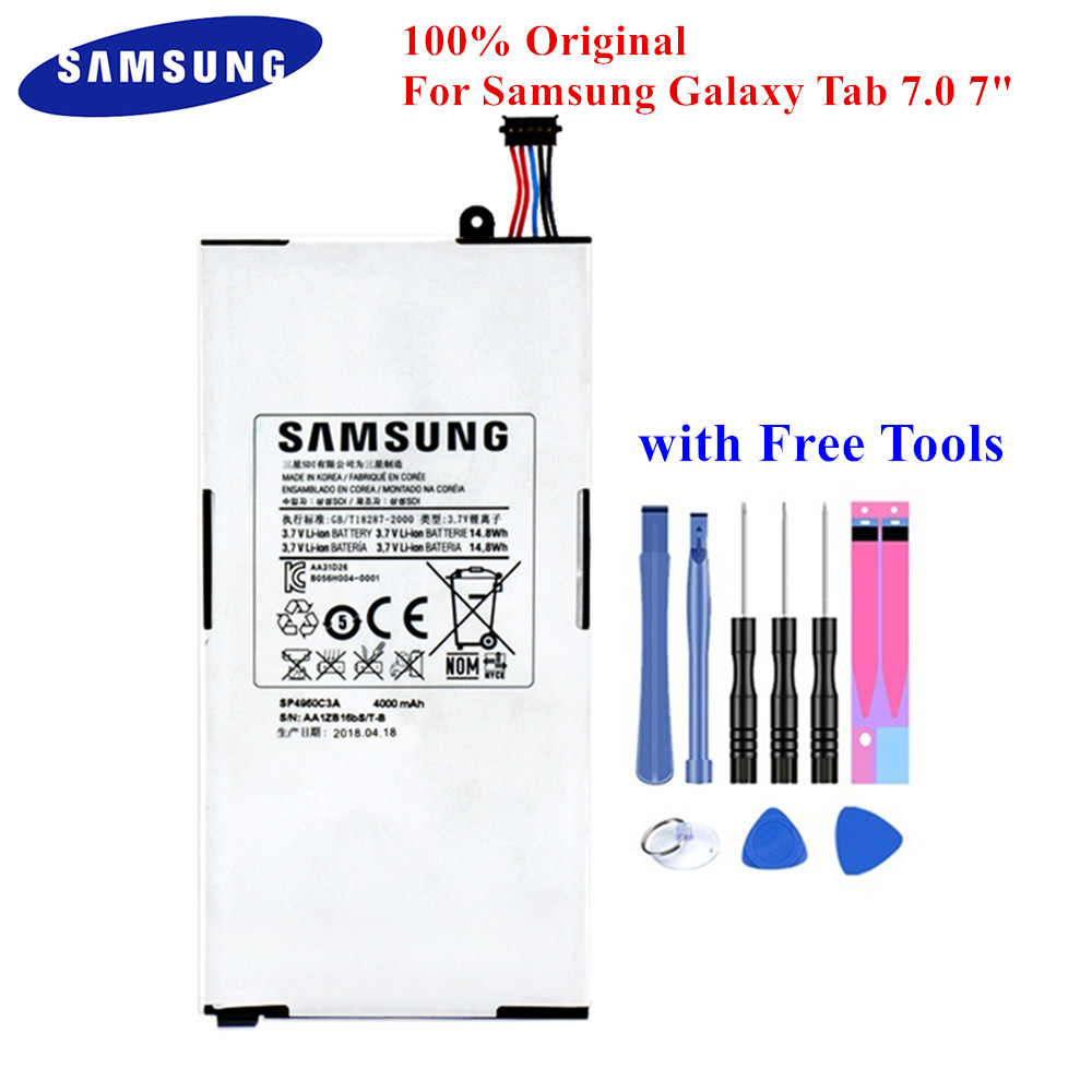 Original Tablet Battery SP4960C3A for Samsung Galaxy Tab 7.0 GT P1000 P1010 4000mAh Top Quality PC Batteria with Free Tools|Mobile Phone Batteries| |  - title=