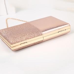Image 5 - Womens Evening Clutch Bag Pink Clutch Purse and Handbag Patchwork Design Leather Women Bag Wedding Party Bag ZD1178