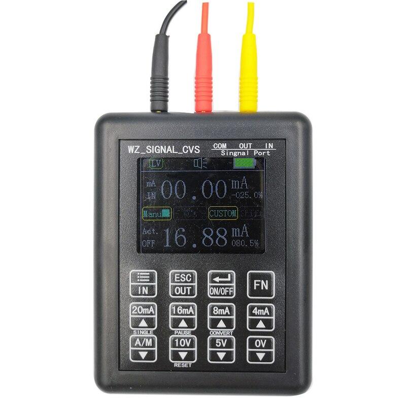 Прецизионный 4-20мА 0-10 в генератор сигналов процесс управления калибратор сигнала источник постоянного тока 0-20мА симулятор