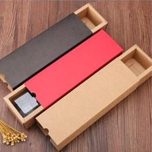 20pcs Red Brown Paper Packaging Box For Cookie DIY Craft Drawer Cardboard Biscuit Nougat Gift