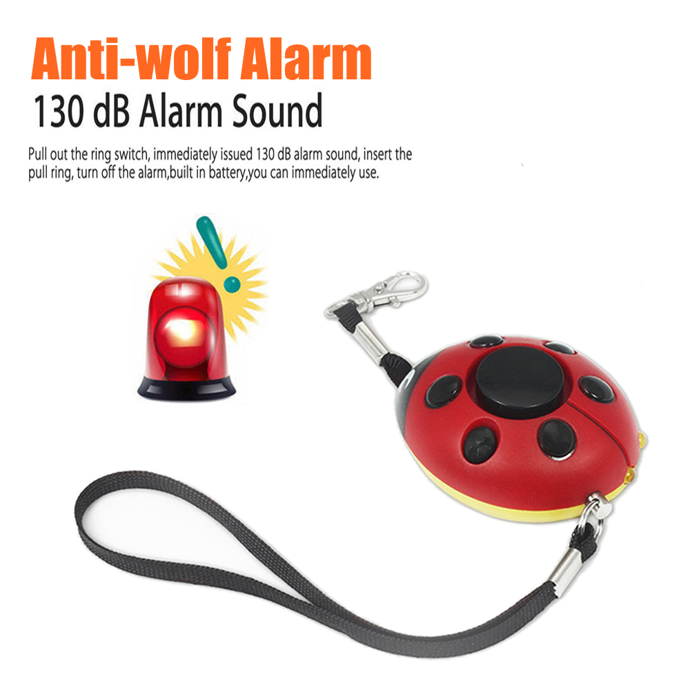 Scream Loud Keychain Emergency Alarm Self Defense Alarm 130dB Beetle Girl Women Security Protect Alert Personal Safety Alarms