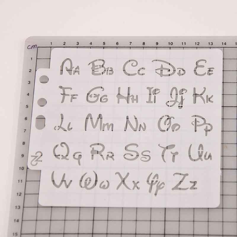 アルファベット手紙ステンシルテンプレート絵画スクラップブッキングエンボスプレスアルバムカードdiy