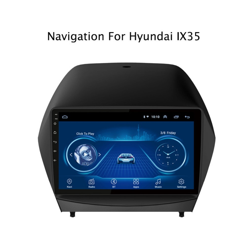 Tucson Android 8.1 1+16G Android 8.1 IPS Car Radio GPS Stereo Navi for Hyundai IX35 Tucson 2015-2017 Head Unit Multimedia Video Player with Bluetooth WiFi BT Touch Screen Navigation