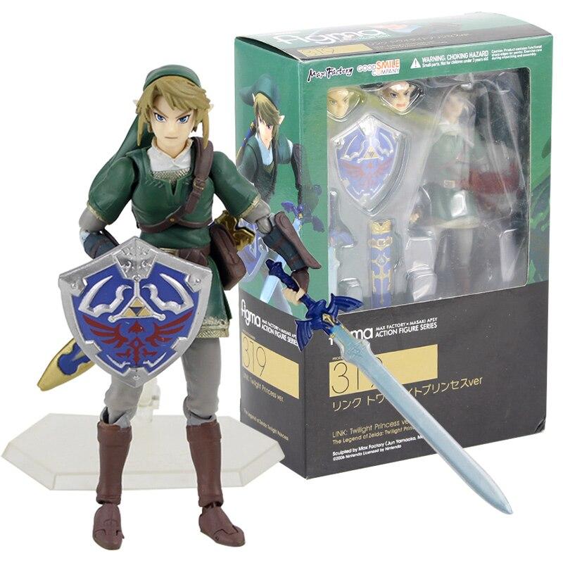The Legend of Zelda Twilight Princess Link Figure Figma 319 Toy Gift In Box