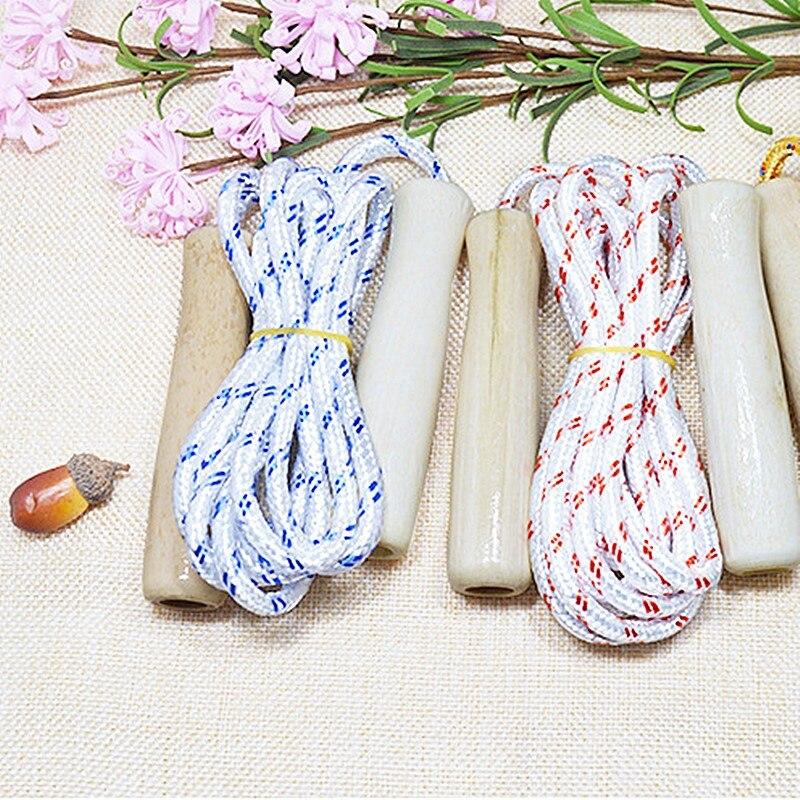 Wooden Handled Children/'s Skipping Rope RANDOM COLOUR//DESIGN