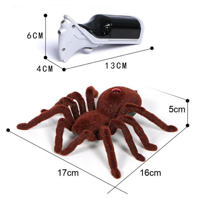 Фото новинка игрушка паук с инфракрасным пультом дистанционного управления