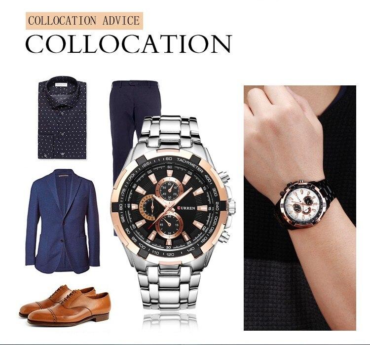 marca de luxo moda casual negócios quartzo