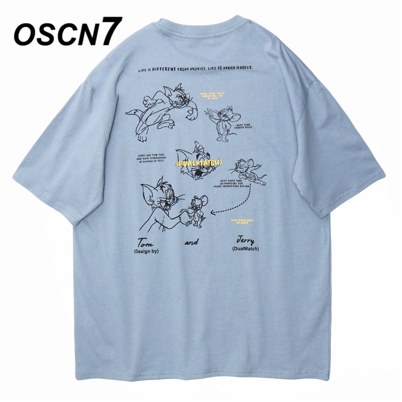 OSCN7 Graphics Print Men's T-Shirts 2020 Funny Short Sleeve Tshirts Summer Hip Hop Casual Fashion Women Top Tee Streetwear DMT60