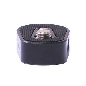 """Image 5 - Plaque dextension inférieure de cardan de caméra EIFFEL pour moniteur de montage, microphone, lumière LED 1/4 """"3/8"""" trou de vis pour grue Ronin S/SC 2"""