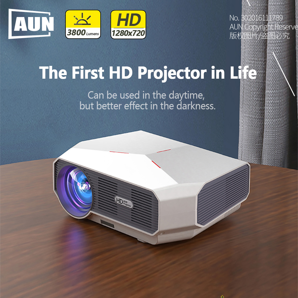 Image 2 - AUN MINI Projector ET10, 1280x720P, 3800 lumen, Optional (Mirroring / Android Version),LED Projector for 1080P Video 3D beamer-in LCD Projectors from Consumer Electronics