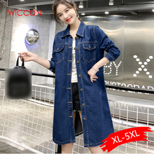 2019 Spring &Autumn Women Denim Jacket Long Sleeve Length Denim Coat For Women J