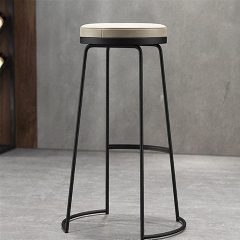 Nordic Bar Stool Modern Minimalist Bar Stool Wrought Iron Front Desk High Stool Stool Tea Shop Plug In Electric Wind Chair