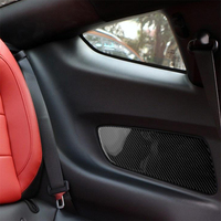 Carbon Fiber Interior Decoration Rear Seat Door Panel Cover Trim for Ford Mustang Car Decal Stickers Accessories Brand New 2pcs