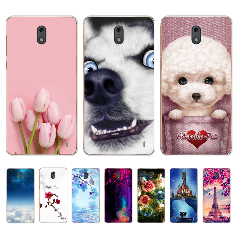 Silicone Case For <font><b>Nokia</b></font> <font><b>2</b></font> Phone Case For Nokia2 Case Cover Fashion 3D Flower Back Cover For <font><b>Nokia</b></font> <font><b>2</b></font> TA-<font><b>1029</b></font> TA <font><b>1029</b></font> Bumper Coque image