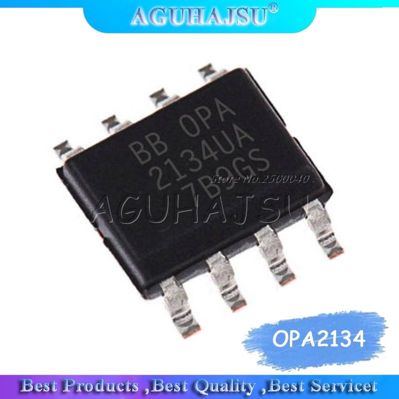 10PCS OPA2134 <font><b>OPA2134UA</b></font> SOP-8 High Performance Audio Operational Amplifier IC image