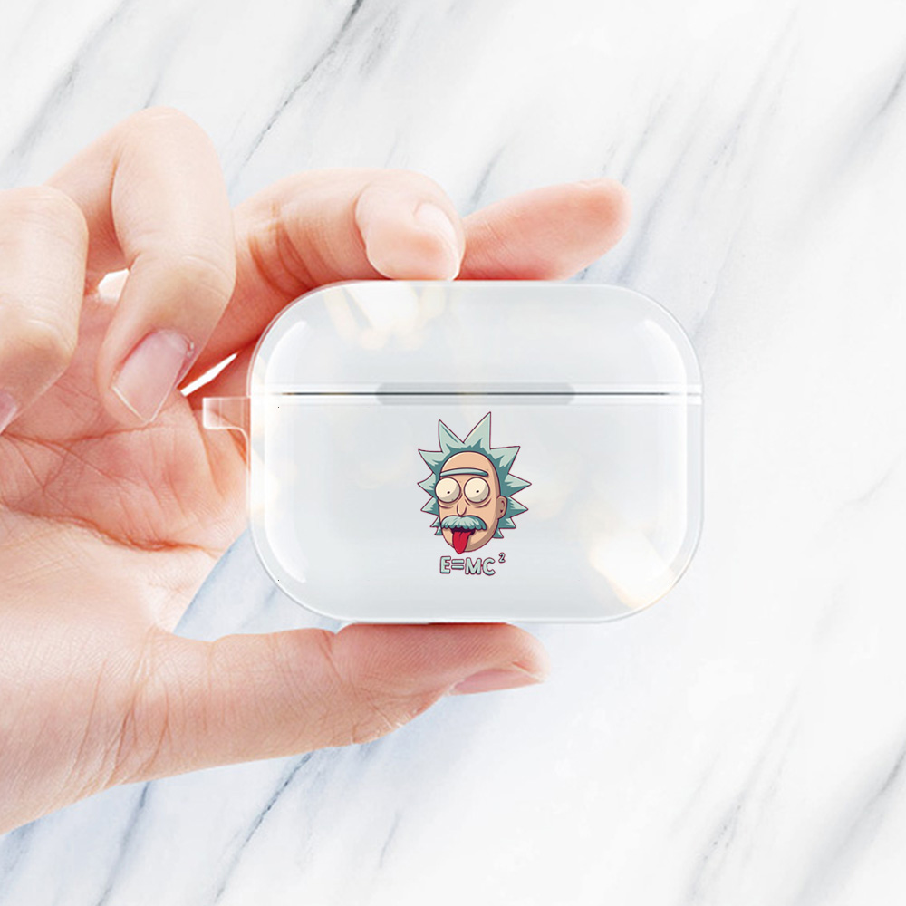 Soft Rick And Morty Case For Airpods Case Transparent Silicone Cartoon Earphone Bag Cover For Apple Air Pods Pro Coque With Hole