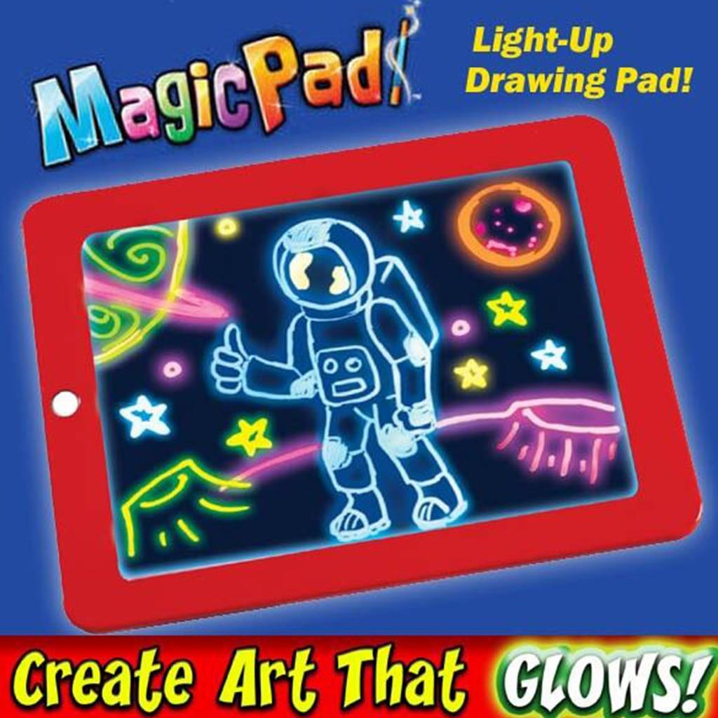 High Quality Creative New 3D Magic Drawing Board Creative Kids Children Pen LED Lights Glow Art Sketchpad