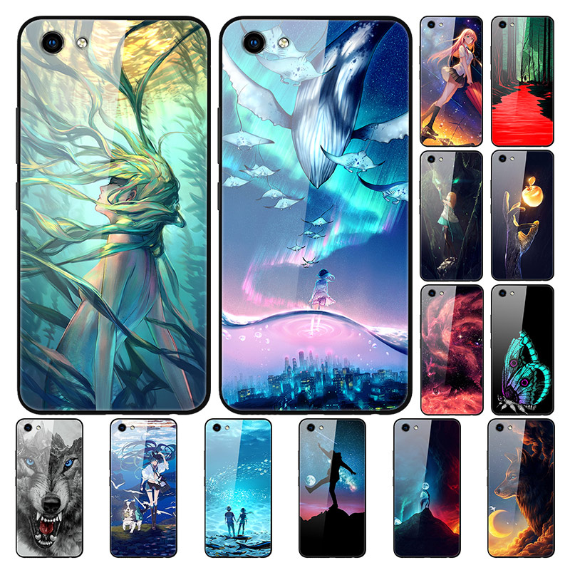 For <font><b>Vivo</b></font> <font><b>Y81</b></font> Case Tempered Glass Cute Fashion Hard <font><b>Back</b></font> <font><b>Cover</b></font> For <font><b>Vivo</b></font> Y83 Y 83 Phone Cases Silicon Bumper Capa For VivoY81 Y 81 image