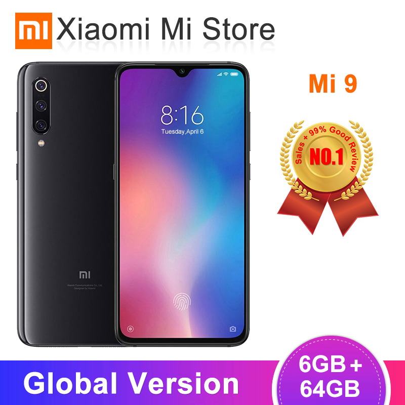 "Global Version Xiaomi Mi 9 Mi9 6GB/64GB 6GB/128GB Mobile Phone Snapdragon 855 Octa Core 6.39"" AMOLED Display 48MP AI Triple"