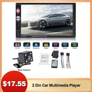 2 Din Car Multimedia Player Car Radio Video MP5 Player Touch Screen Video Bluetooth MP5 Player Remote Controller With Camera