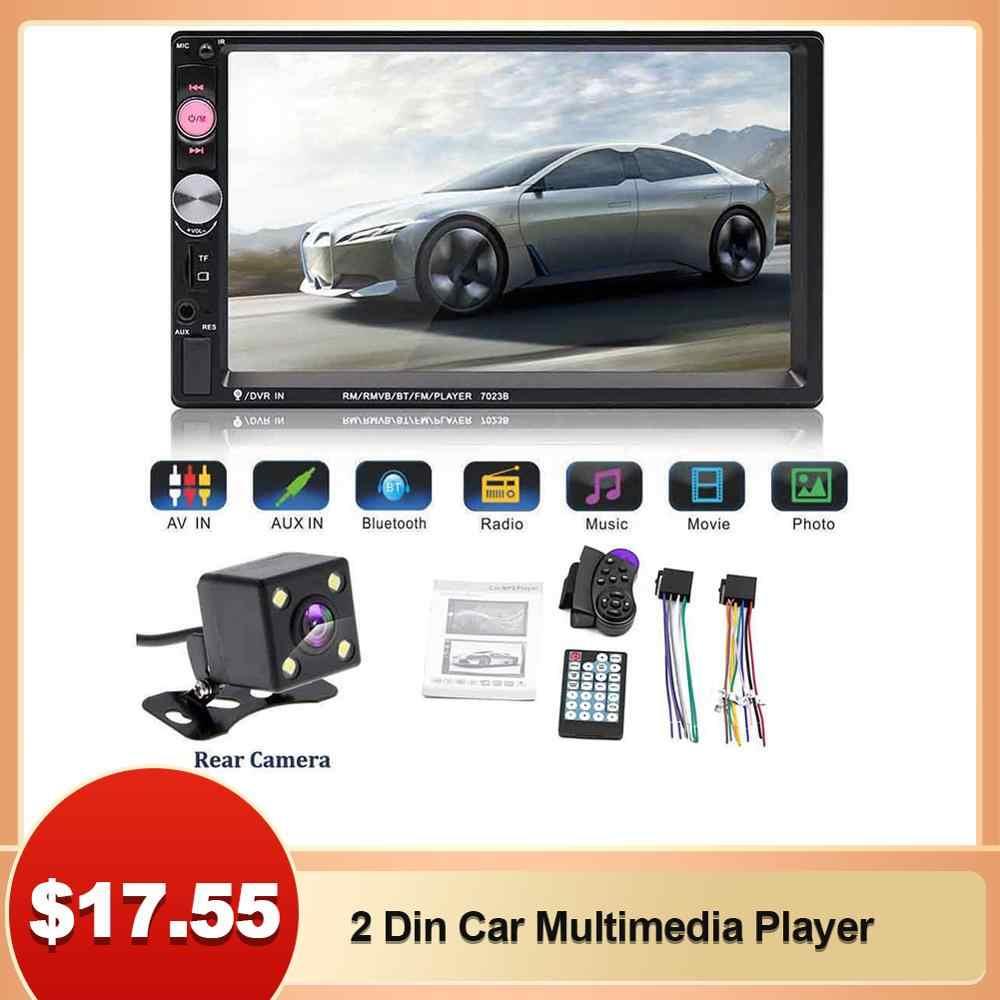 2 Din Mobil Multimedia Player Mobil Radio Video MP5 Player Menyentuh Layar Video Bluetooth MP5 Pemain Remote Controller dengan Kamera
