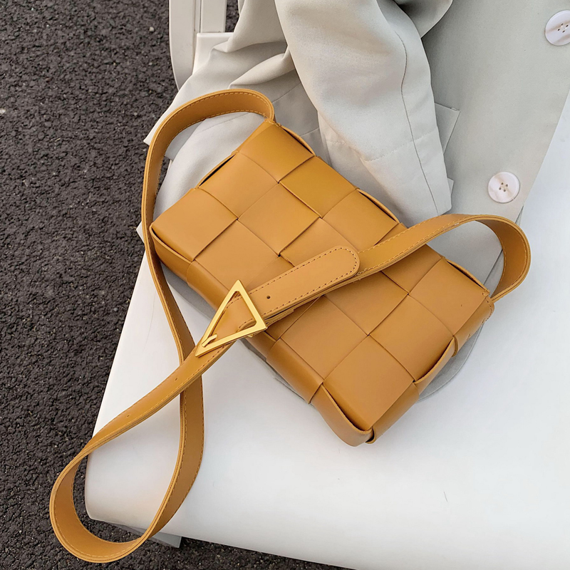 Weave Pu Leather Crossbody Bags For Women 2020 Summer Causal Solid Color Shoulder Bag Female Handbags And Purses Lady Travel Bag