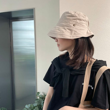 Unisex Cotton Bucket Hats Women Summer Sunscreen Panama Hat Men Pure Color Sunbonnet Fedoras Outdoor Fisherman Hat Beach Cap